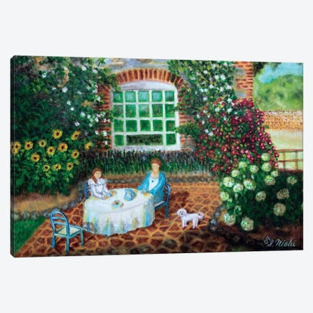 Morning Tea Canvas Print #NHI34} by Sam Nishi Canvas Artwork