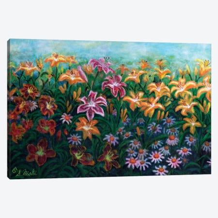 Sea Of Lilies Canvas Print #NHI35} by Sam Nishi Canvas Art