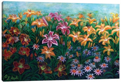 Sea Of Lilies Canvas Art Print