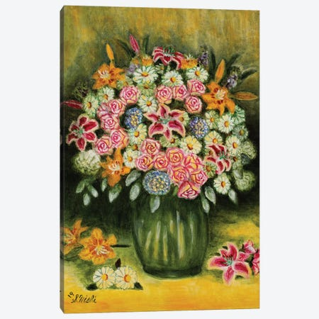 Summer Bouquet Canvas Print #NHI36} by Sam Nishi Canvas Wall Art