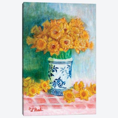 Daffodils Galore Canvas Print #NHI37} by Sam Nishi Canvas Art
