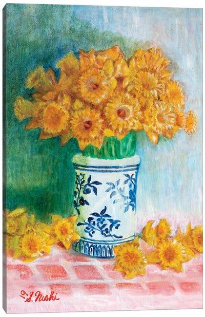 Daffodils Galore Canvas Art Print