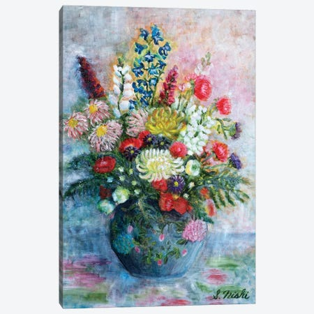 Chrysanthemums Canvas Print #NHI4} by Sam Nishi Canvas Art