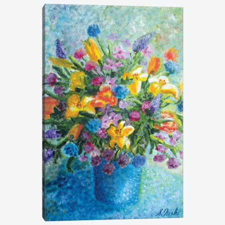 Colorful Bouquet Canvas Print #NHI5} by Sam Nishi Canvas Artwork