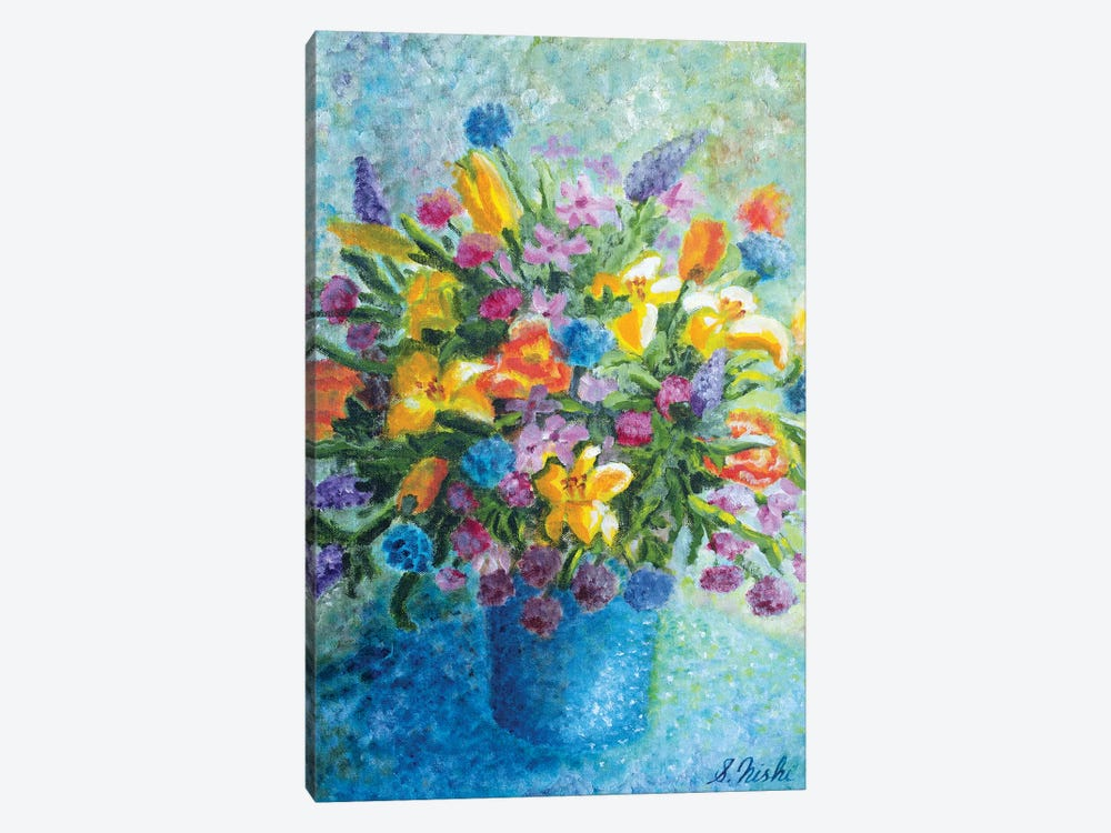 Colorful Bouquet by Sam Nishi 1-piece Art Print