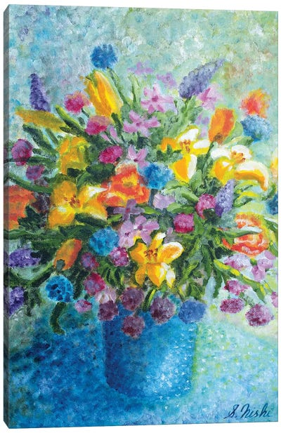 Colorful Bouquet Canvas Art Print
