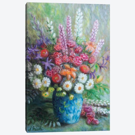 Congrats Bouquet Canvas Print #NHI6} by Sam Nishi Canvas Wall Art