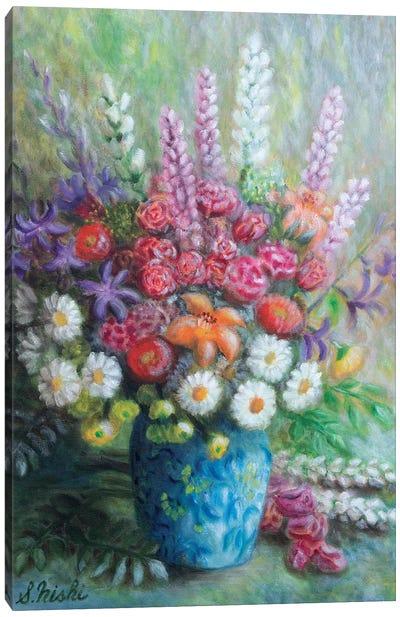 Congrats Bouquet Canvas Art Print