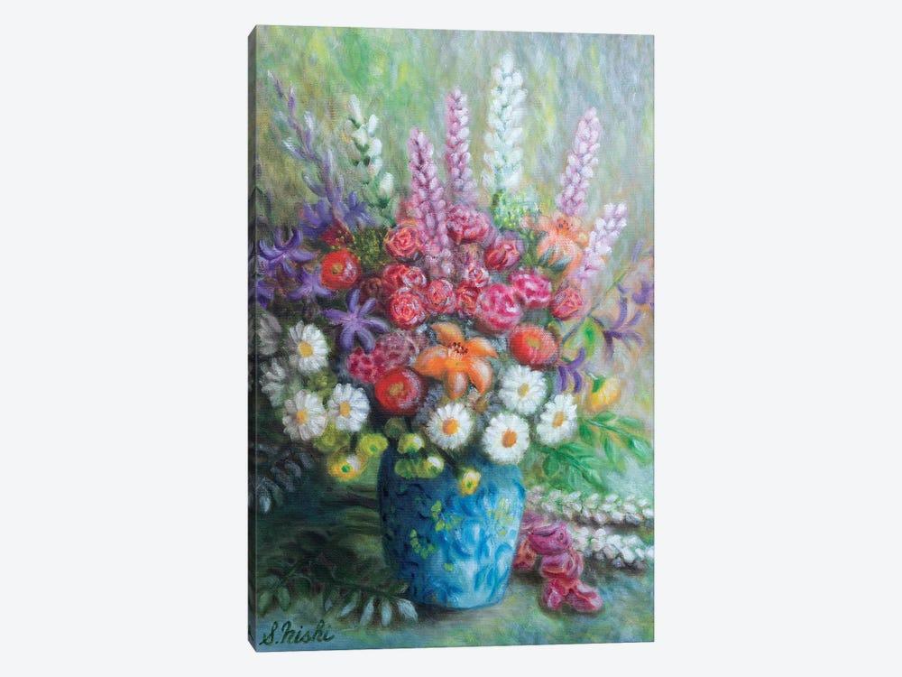 Congrats Bouquet by Sam Nishi 1-piece Canvas Wall Art