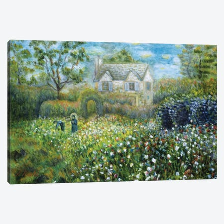Country Cottage Canvas Print #NHI8} by Sam Nishi Canvas Print