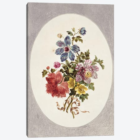 Folio 17 From A Collection Of Flowers By John Edwards Canvas Print #NHM273} by Natural History Museum (UK) Canvas Artwork
