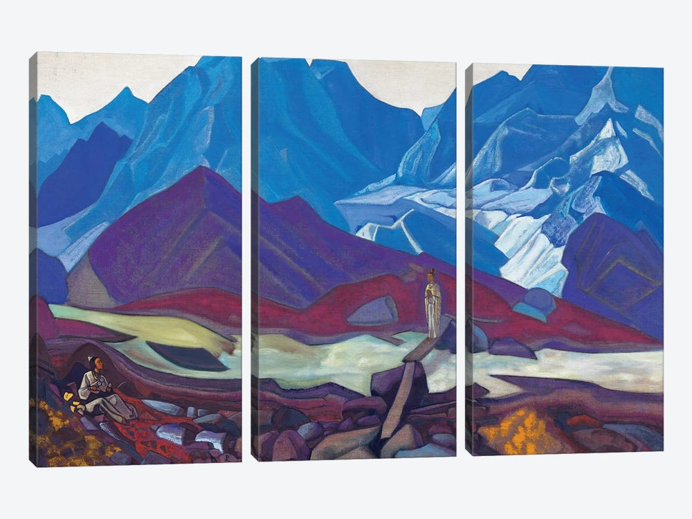 From Beyond, 1936 by Nicholas Roerich 3-piece Canvas Art
