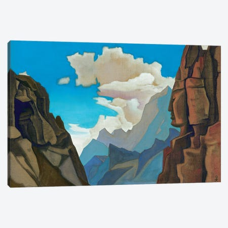 Great Spirit Of The Himalayas, 1934 Canvas Print #NHR12} by Nicholas Roerich Canvas Wall Art