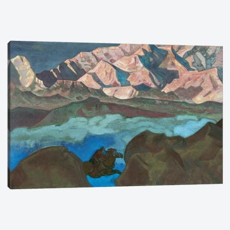 He Who Hastens, 'His Country' Series, 1924 Canvas Print #NHR14} by Nicholas Roerich Canvas Art Print