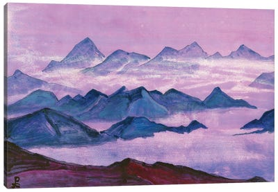 Himalayas, Album Leaf, 1934 Canvas Art Print