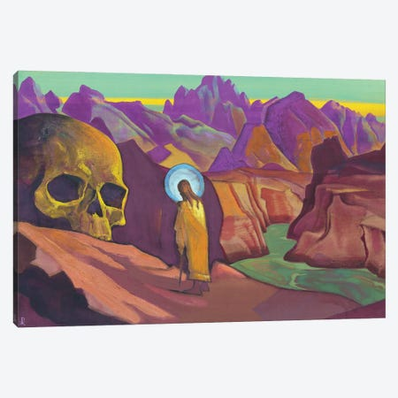 Issa And The Skull Of The Giant, 1932 Canvas Print #NHR19} by Nicholas Roerich Canvas Wall Art