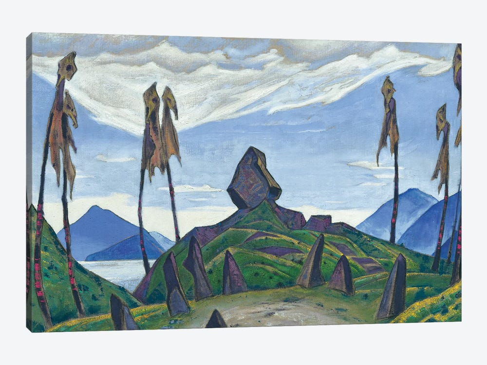 Backdrop For Stravinsky's Ballet, 'Le Sacre Du Printemps', 1930 by Nicholas Roerich 1-piece Canvas Artwork