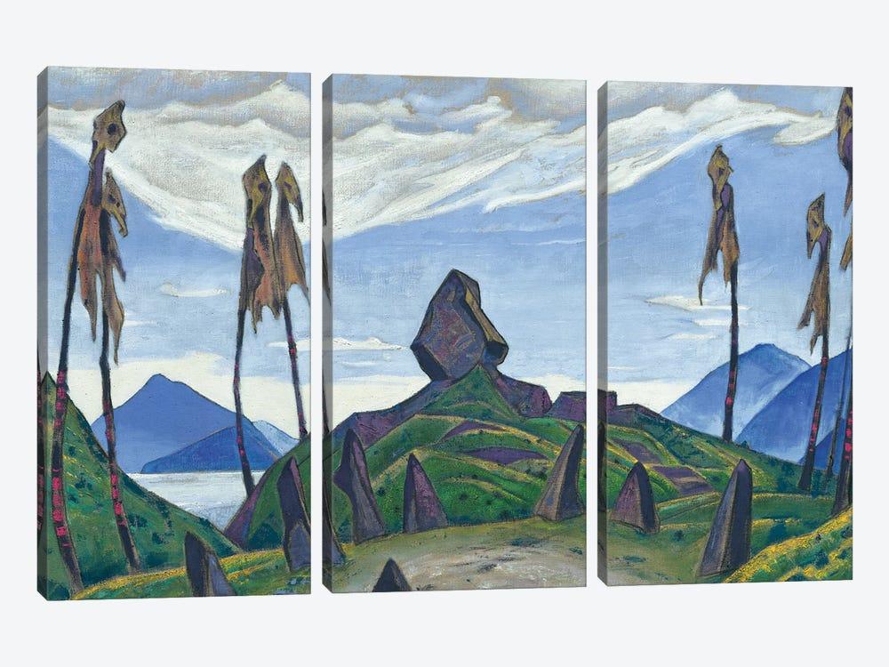 Backdrop For Stravinsky's Ballet, 'Le Sacre Du Printemps', 1930 by Nicholas Roerich 3-piece Canvas Wall Art