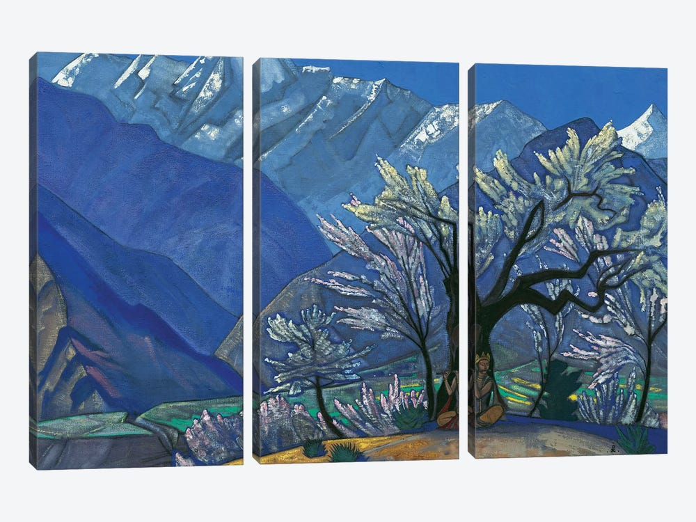 Krishna, 'Kulu' Series, 1929 by Nicholas Roerich 3-piece Canvas Art