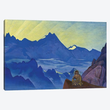 Milarepa, The One Who Harkened, 'Banners Of The East' Series, 1925 Canvas Print #NHR28} by Nicholas Roerich Canvas Art Print