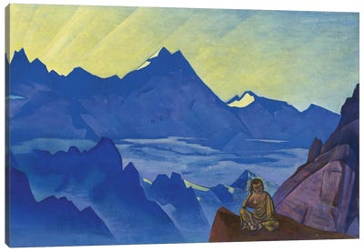 Milarepa, The One Who Harkened, 'Banners Of The East' Series, 1925 Canvas Art Print
