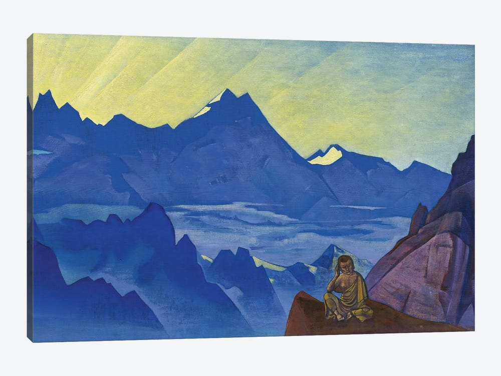 Milarepa, The One Who Harkened, 'Banners Of The East' Series, 1925 by Nicholas Roerich 1-piece Canvas Artwork