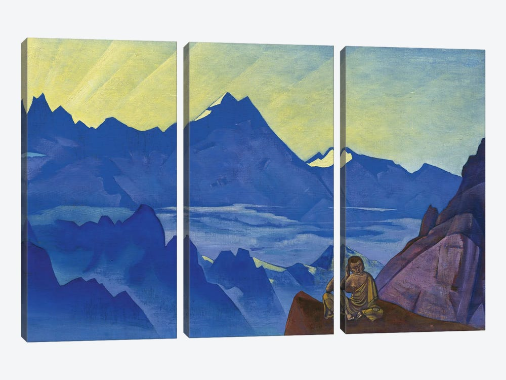 Milarepa, The One Who Harkened, 'Banners Of The East' Series, 1925 by Nicholas Roerich 3-piece Canvas Art