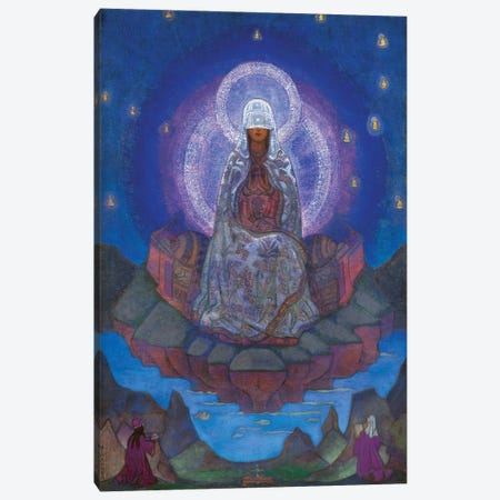 Mother Of The World, 1924 Canvas Print #NHR32} by Nicholas Roerich Canvas Artwork