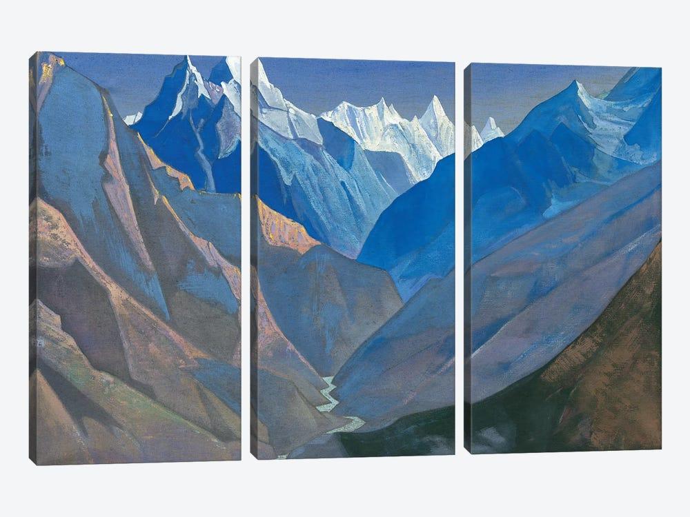 Mount 'M', 1931 by Nicholas Roerich 3-piece Canvas Art