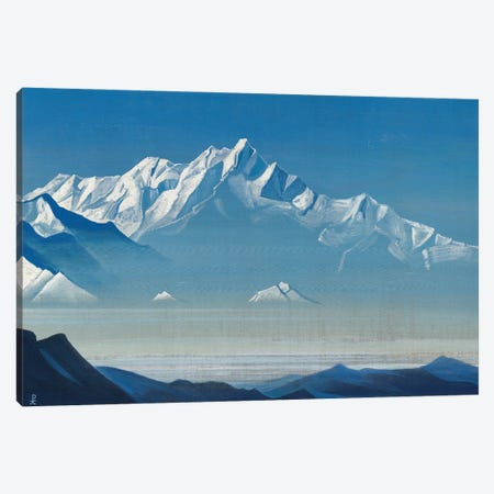 Mount Of Five Treasures , 'Holy Mountains' Series, 1933 Canvas Print #NHR34} by Nicholas Roerich Canvas Print