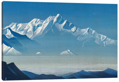 Mount Of Five Treasures , 'Holy Mountains' Series, 1933 Canvas Art Print