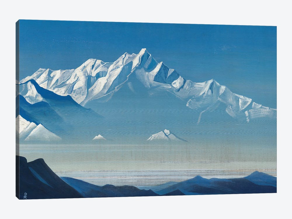 Mount Of Five Treasures , 'Holy Mountains' Series, 1933 by Nicholas Roerich 1-piece Canvas Art Print