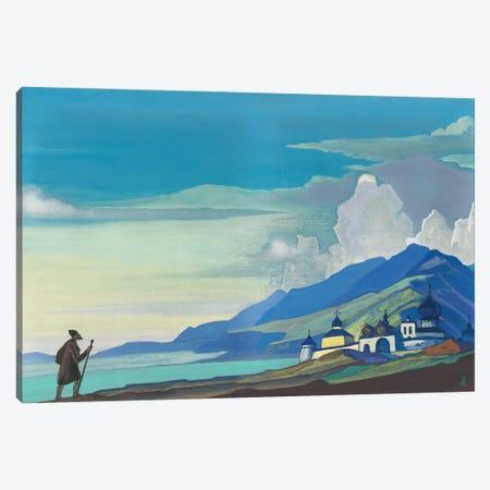 Pilgrim Of The Radiant City, 1933 Canvas Print #NHR43} by Nicholas Roerich Art Print