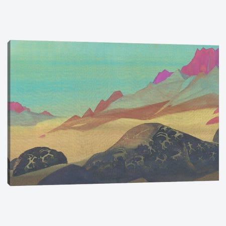 Rocks Of Ladakh, 1932 Canvas Print #NHR46} by Nicholas Roerich Canvas Artwork