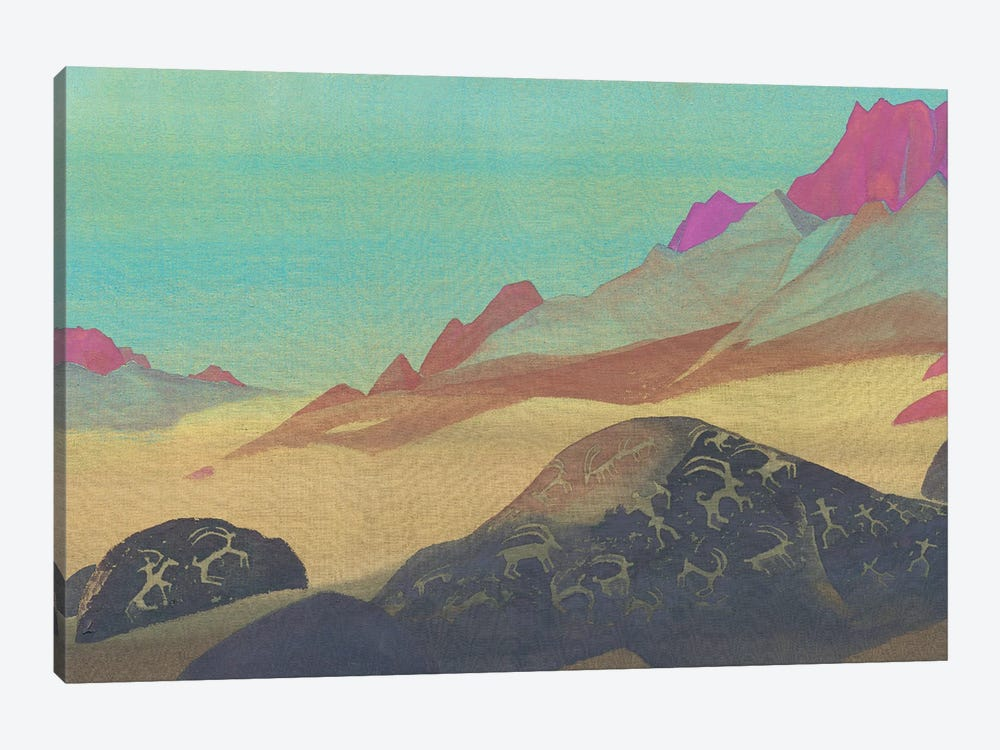 Rocks Of Ladakh, 1932 by Nicholas Roerich 1-piece Canvas Art