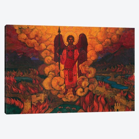 The Last Angel, 1912 Canvas Print #NHR57} by Nicholas Roerich Canvas Art Print