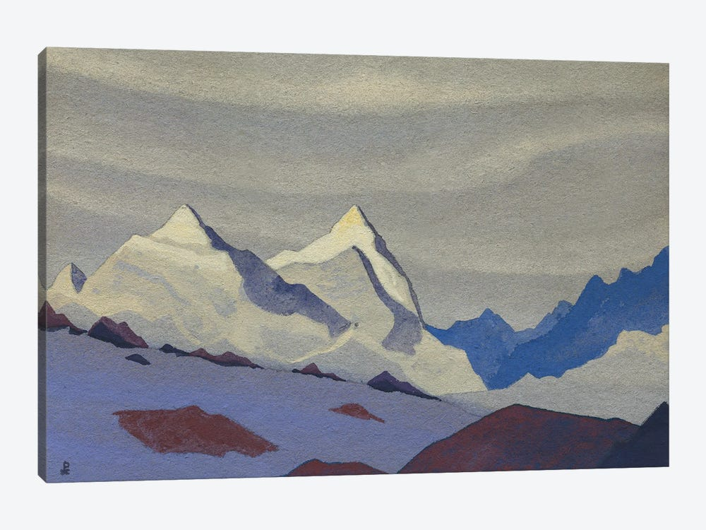 Western Himalayas, 1936 by Nicholas Roerich 1-piece Canvas Print