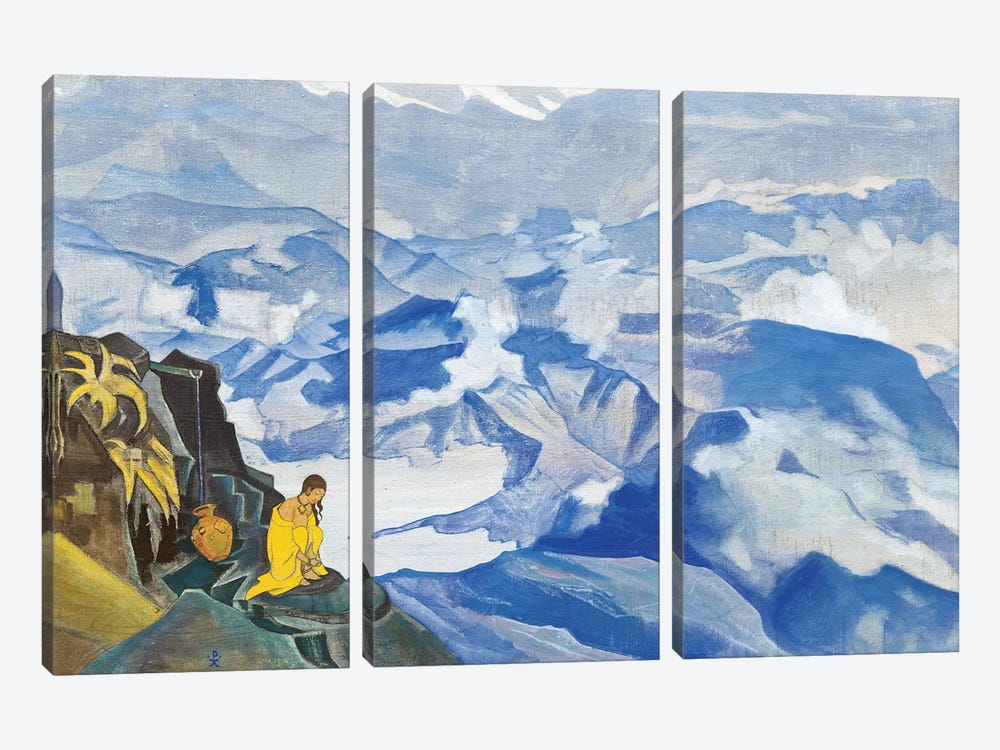 Drops Of Life, 'Sikkim' Series, 1924 by Nicholas Roerich 3-piece Canvas Wall Art