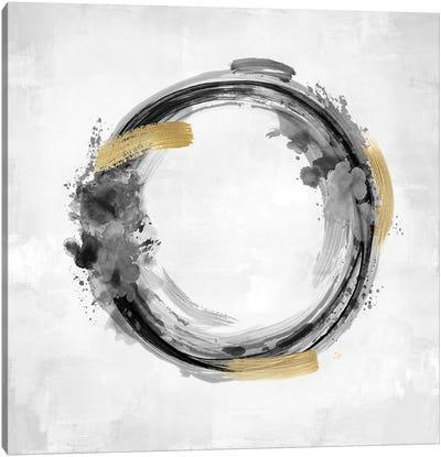 Circle Motion Black I Canvas Art Print