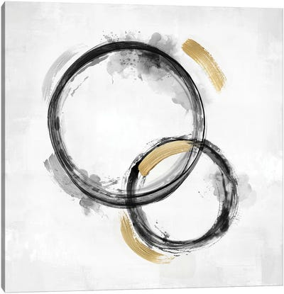 Circle Motion Black II Canvas Art Print