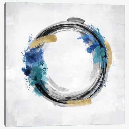Circle Motion Blue I Canvas Print #NHS17} by Natalie Harris Canvas Art