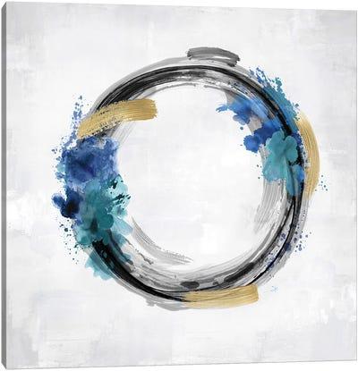 Circle Motion Blue I Canvas Art Print