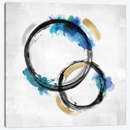 Circle Motion Blue II Canvas Print #NHS18} by Natalie Harris Art Print