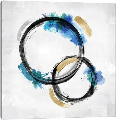 Circle Motion Blue II Canvas Art Print