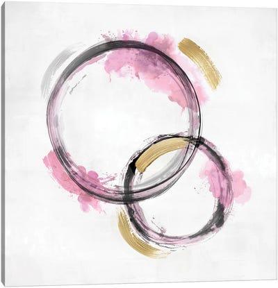 Circle Motion Pink II Canvas Art Print