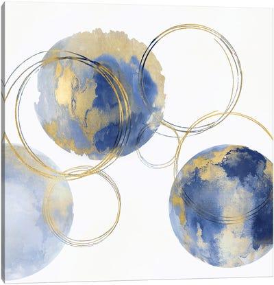 Circular Blue And Gold II Canvas Art Print