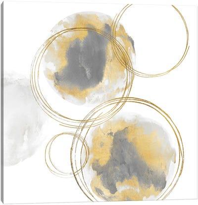 Circular Gray And Gold I Canvas Art Print