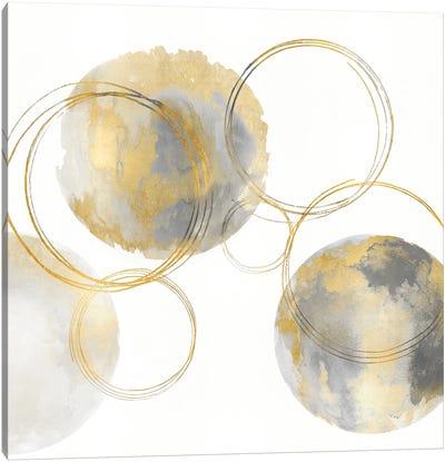 Circular Gray And Gold II Canvas Art Print