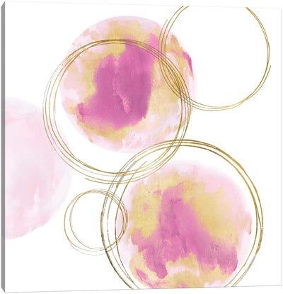 Circular Pink And Gold I Canvas Art Print