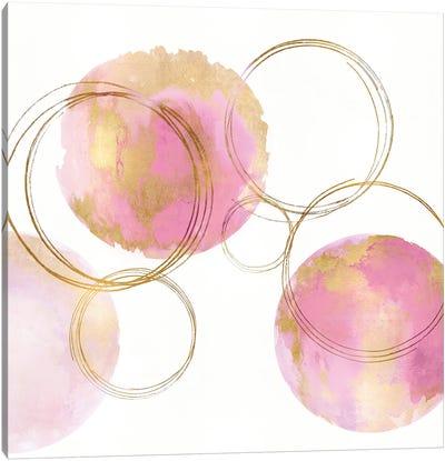 Circular Pink And Gold II Canvas Art Print